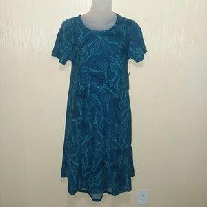 Lularoe Carly scissor print dress size XXS